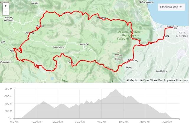 Gazi Chonos Anogia road bike tour start from Amoudara Crete-min