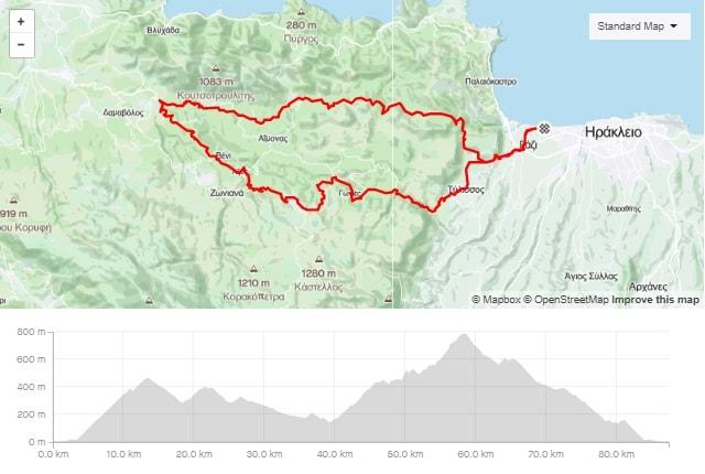 Gazi Garazo Anogia road bike tour start from Amoudara Crete-min
