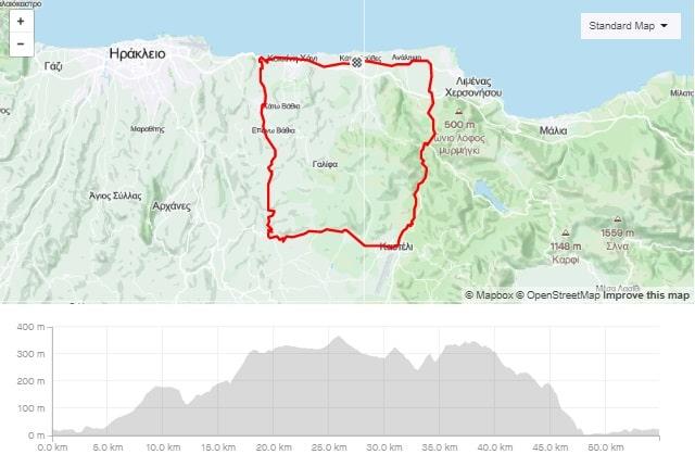 Kasteli Apostoli Episkopi road bike tour from Gouves Crete-min