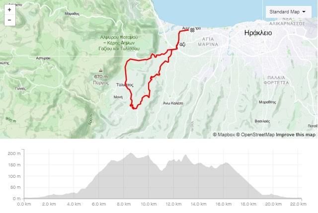 Keramoutsi Tylissos road bike tour start from Amoudara Crete-min