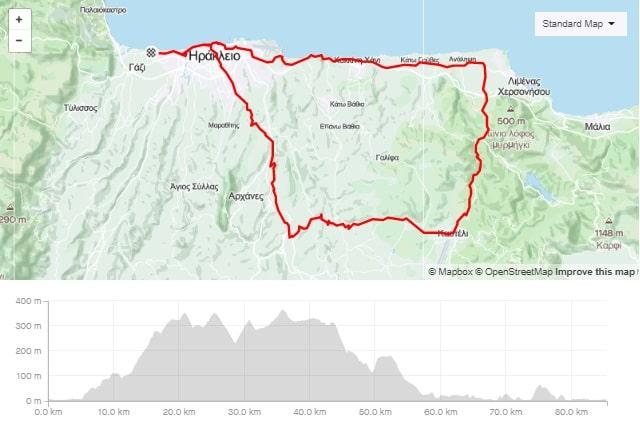 Knossos Kasteli Hersonisos road bike tour start from Amoudara Crete-min