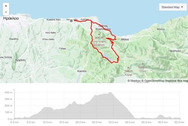 Mochos classic road bike tour from Gouves Crete-min