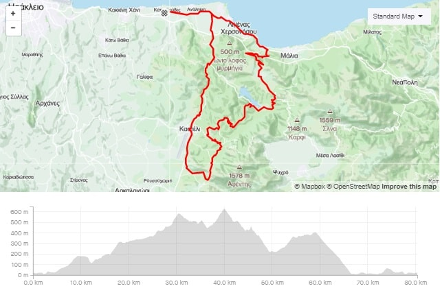 Rizovounia long road bike tour from Gouves Crete-min