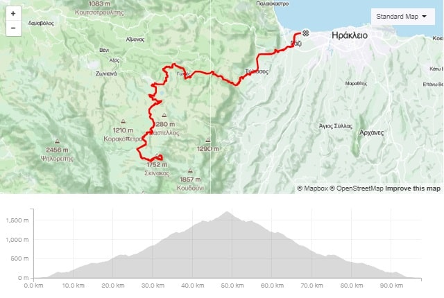 Skinakas climb road bike tour start from Amoudara Crete-min - Αντιγραφή-min