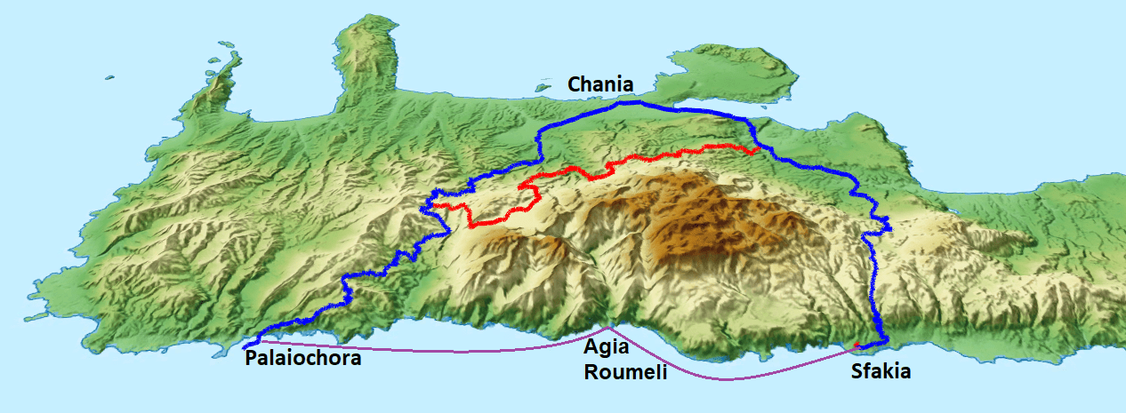 The-best-way-to-go-from-Sfakia-to-Palaiochora-south-of-white-mountains-Crete-map-with-the-boat-Are the roads of Crete good for cycling?