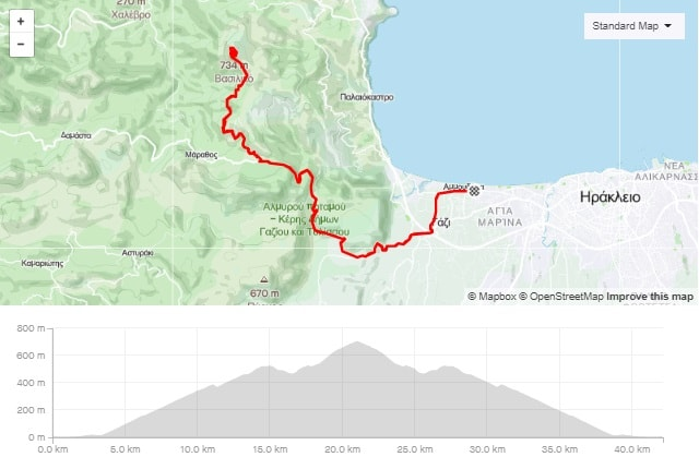 Vasilikos climb road bike tour start from Amoudara Crete-min