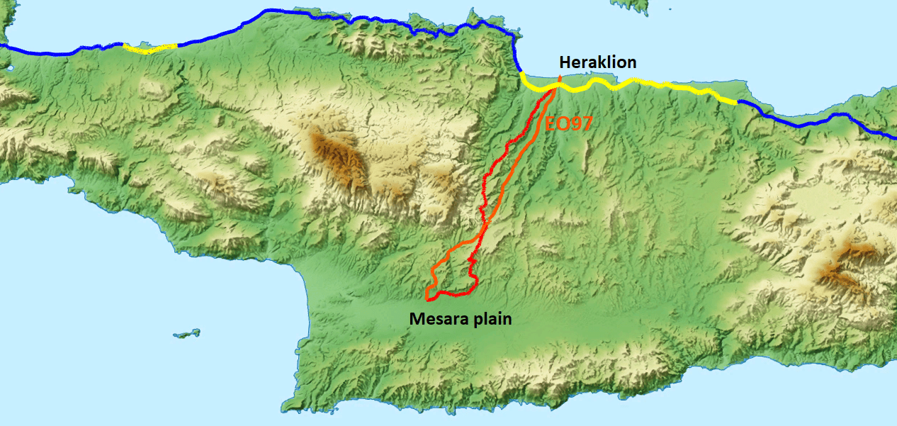best alternative road from Heraklion to Mesara south Crete for cycling-Are the roads of Crete good for cycling?