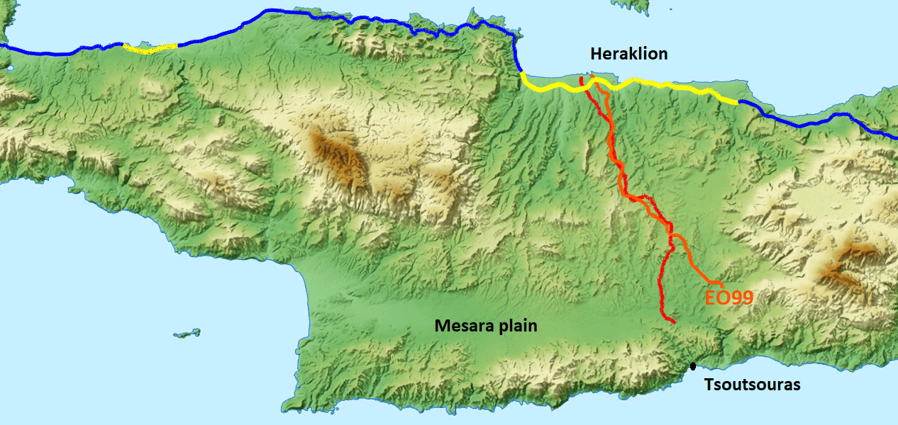 best alternative road from Heraklion to Tsoutsouras south Crete for cyclists-Are the roads of Crete good for cycling?