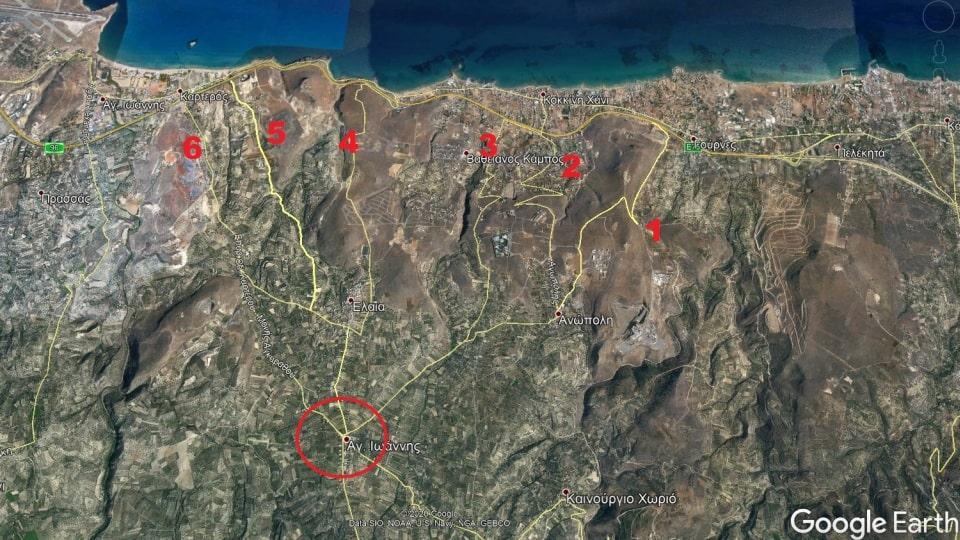kokkini chani satelite view the cycling roads-min