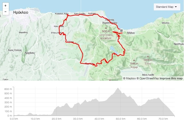 Anopoli Smari Askoi road bike route start from Stalida Crete cyclingcreta bike center map-min