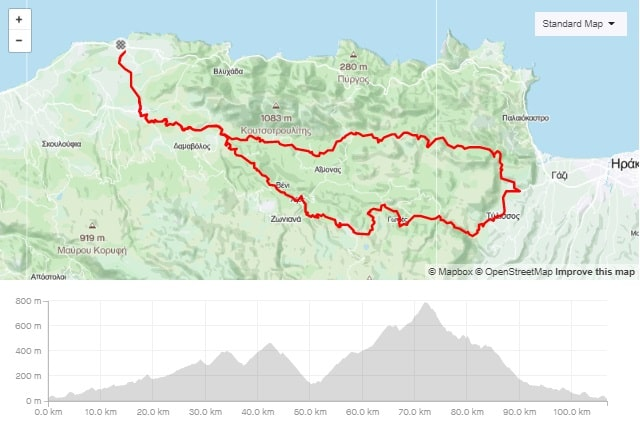 Old road Tylisos Anogia road bike route map start from Panormo bike area Crete road bike rental mountain bike rental ebike rental Kreta fahrradverleih-min