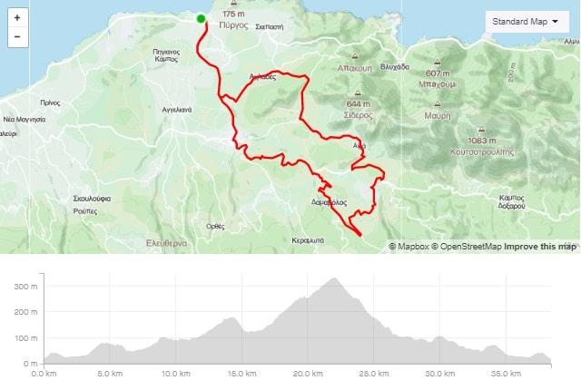 Panormos Melidoni Agia Episkopi road bike route map start from Panormo bike area Crete road bike rental mountain bike rental ebike rental Kreta fahrradverleih-min