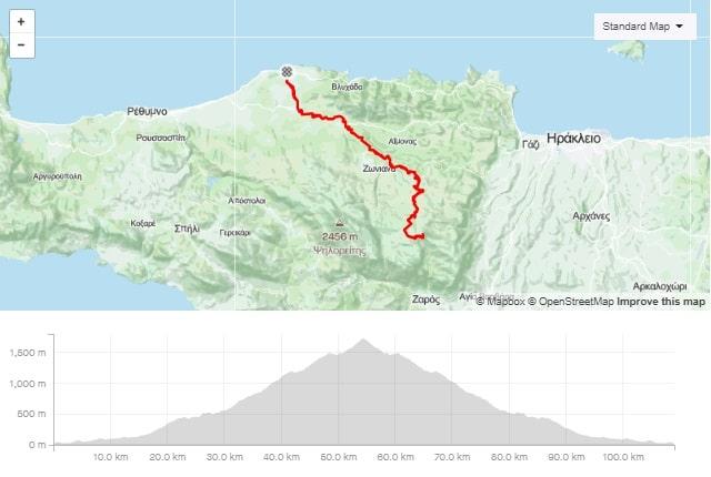 Skinakas climb start from Panormos road bike route map start from Panormo bike area Crete road bike rental mountain bike rental ebike rental Kreta fahrradverleih-min