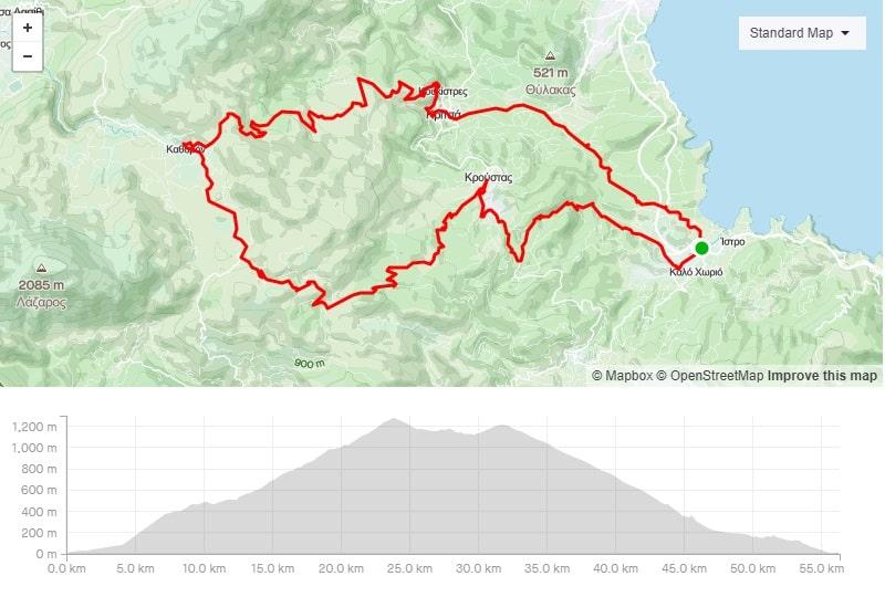 istro Kroustas Katharo mtb bike route to download crete-min